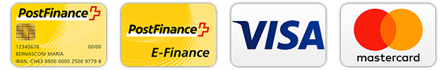 Pagamento Postfinance, Visa e Mastercard da HobbyMoto